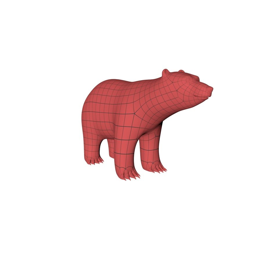 Malha base urso polar royalty-free 3d model - Preview no. 3