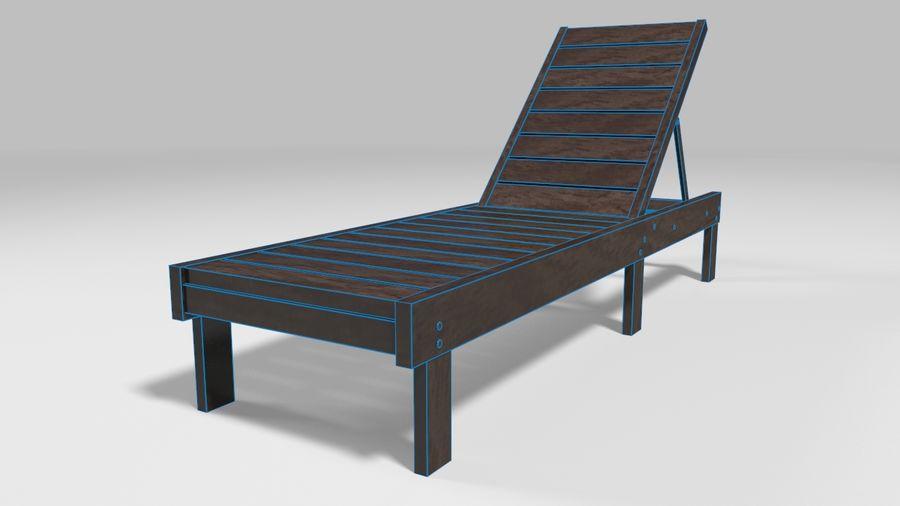 泳池椅 royalty-free 3d model - Preview no. 6
