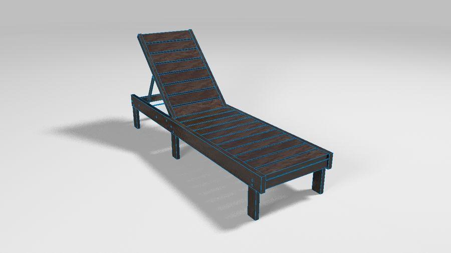 泳池椅 royalty-free 3d model - Preview no. 2