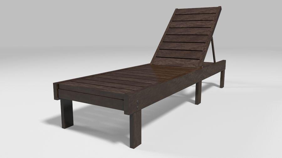 泳池椅 royalty-free 3d model - Preview no. 5
