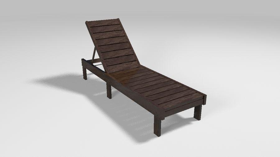 泳池椅 royalty-free 3d model - Preview no. 1