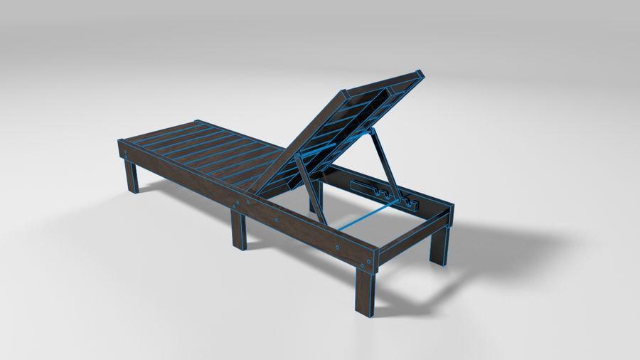 泳池椅 royalty-free 3d model - Preview no. 4