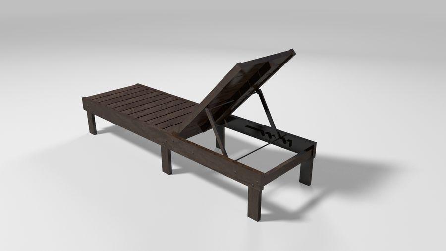 泳池椅 royalty-free 3d model - Preview no. 3