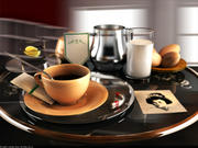 Breakfast. 3d model