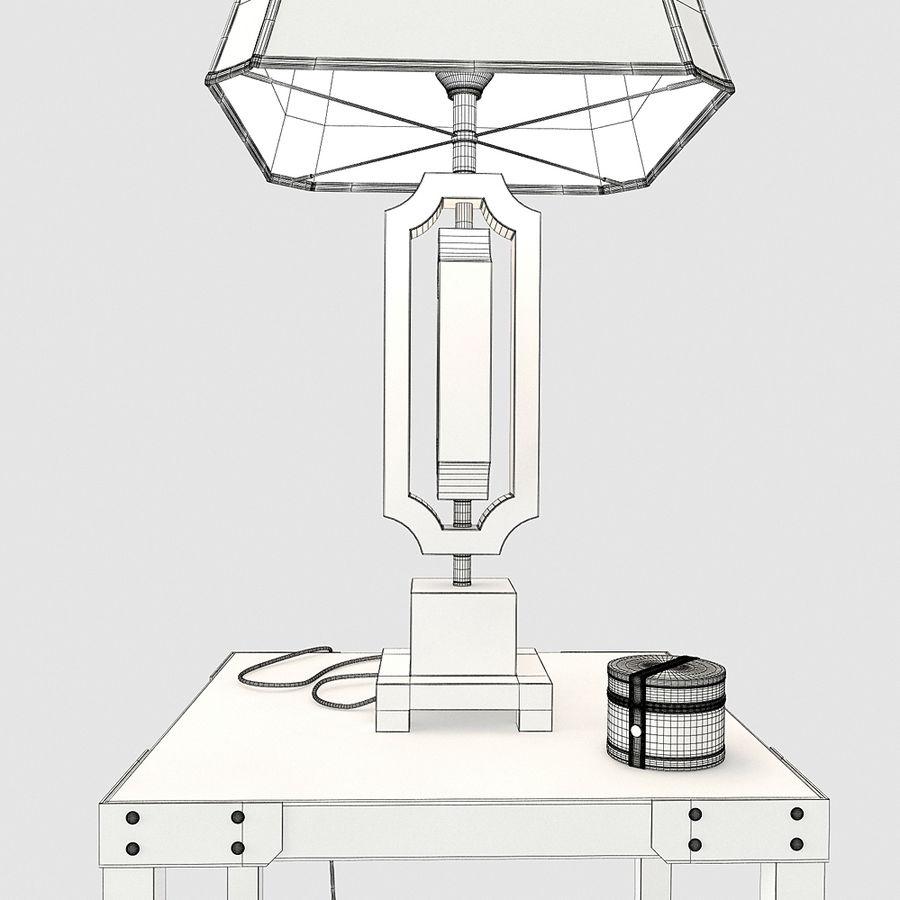 Lampa stołowa Scottey i stół Dexifield (Ashley) royalty-free 3d model - Preview no. 7