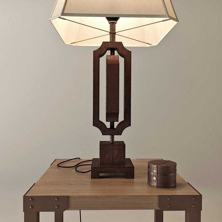Lampa stołowa Scottey i stół Dexifield (Ashley) royalty-free 3d model - Preview no. 2