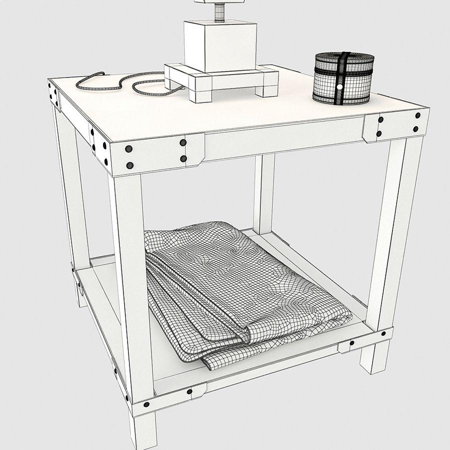 Lampa stołowa Scottey i stół Dexifield (Ashley) royalty-free 3d model - Preview no. 6