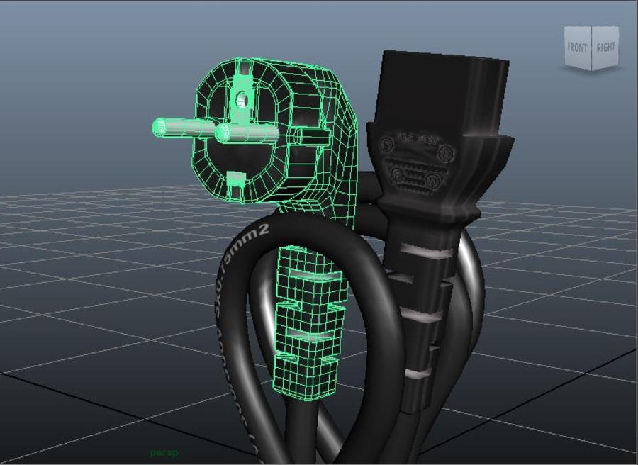 Kabel zasilający royalty-free 3d model - Preview no. 3