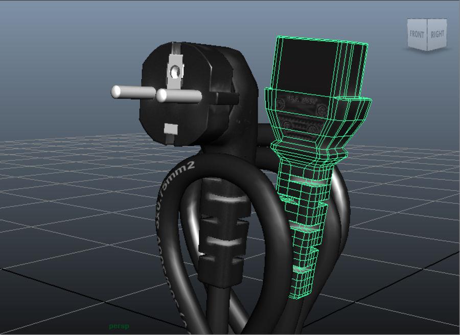Kabel zasilający royalty-free 3d model - Preview no. 4