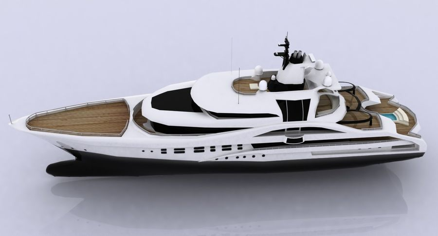 Palladium Yacht Low Poly royalty-free 3d model - Preview no. 11