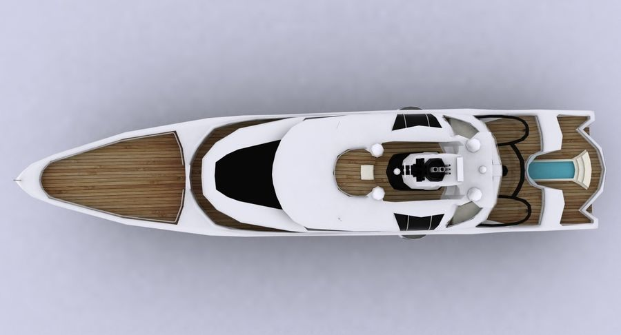 Palladium Yacht Low Poly royalty-free 3d model - Preview no. 13