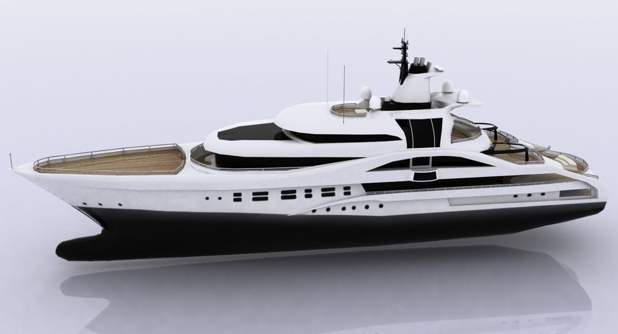 Palladium Yacht Low Poly royalty-free 3d model - Preview no. 10
