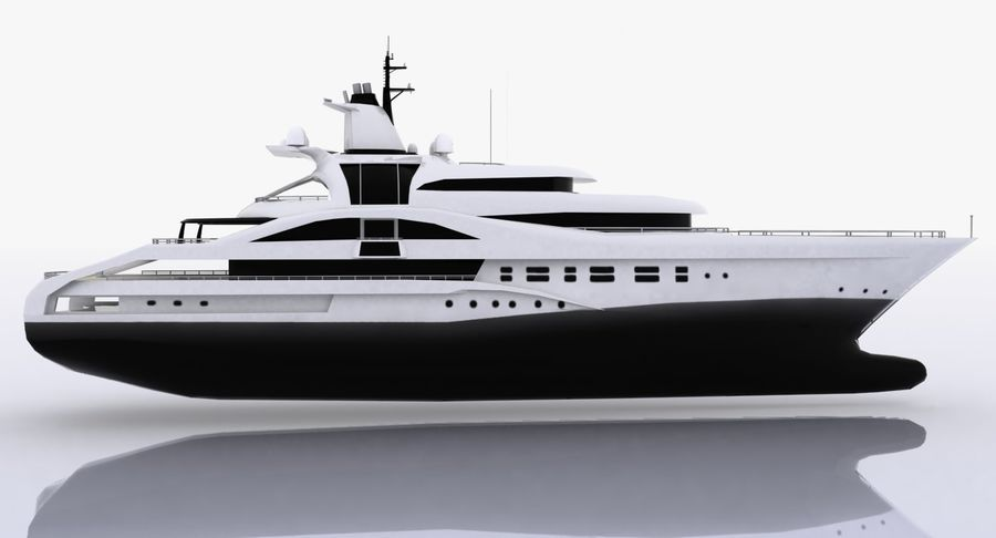 Palladium Yacht Low Poly royalty-free 3d model - Preview no. 7