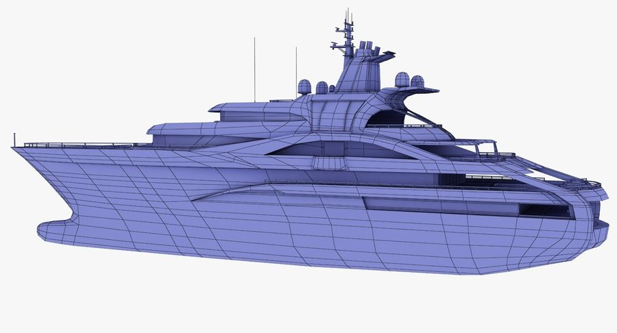 Palladium Yacht Low Poly royalty-free 3d model - Preview no. 16