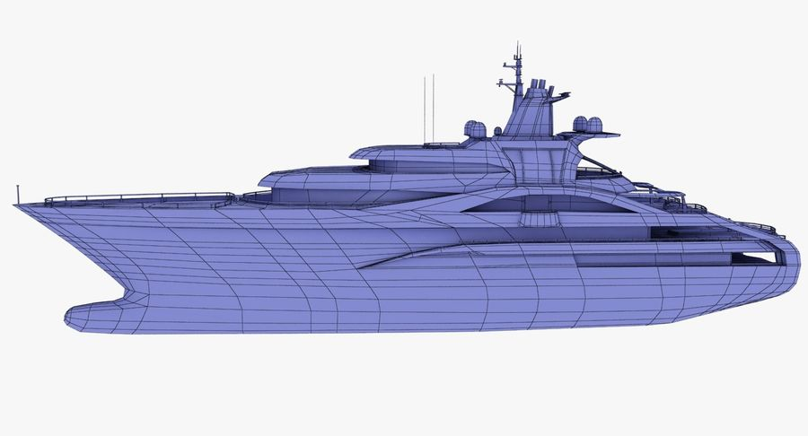 Palladium Yacht Low Poly royalty-free 3d model - Preview no. 15