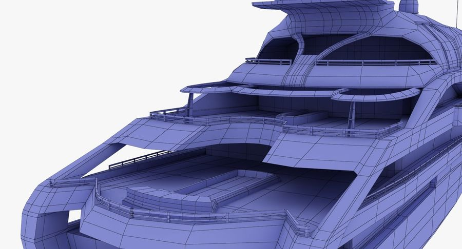 Palladium Yacht Low Poly royalty-free 3d model - Preview no. 22