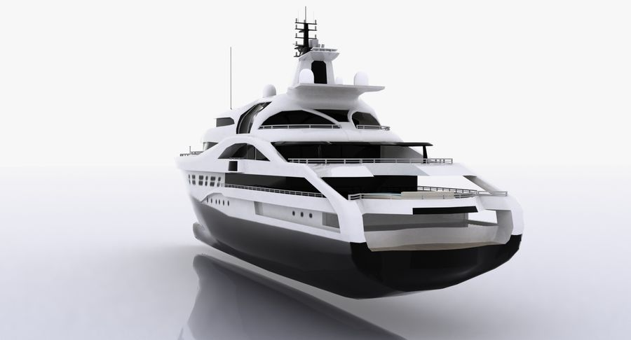 Palladium Yacht Low Poly royalty-free 3d model - Preview no. 5
