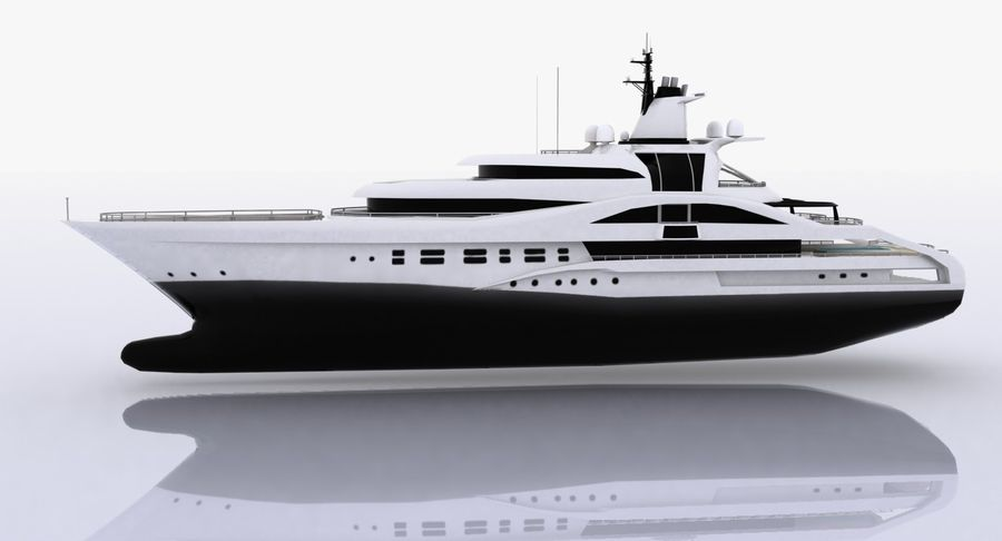 Palladium Yacht Low Poly royalty-free 3d model - Preview no. 3