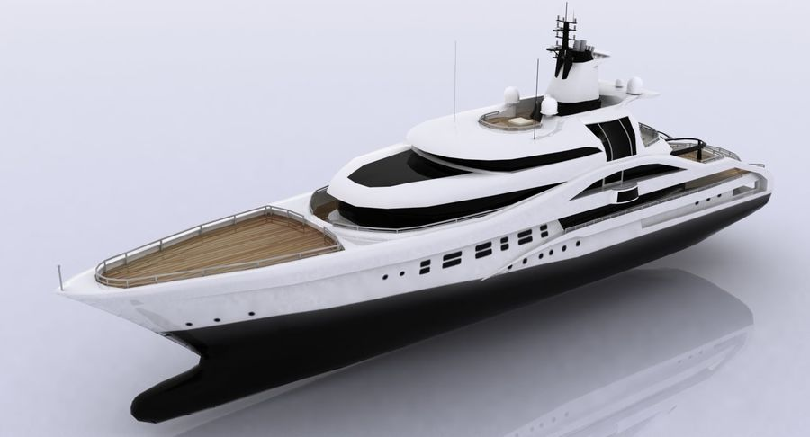 Palladium Yacht Low Poly royalty-free 3d model - Preview no. 9
