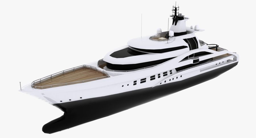 Palladium Yacht Low Poly royalty-free 3d model - Preview no. 1