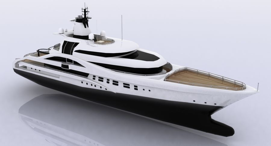 Palladium Yacht Low Poly royalty-free 3d model - Preview no. 8