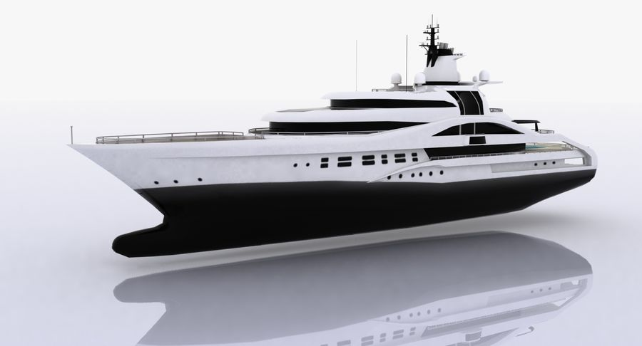Palladium Yacht Low Poly royalty-free 3d model - Preview no. 2