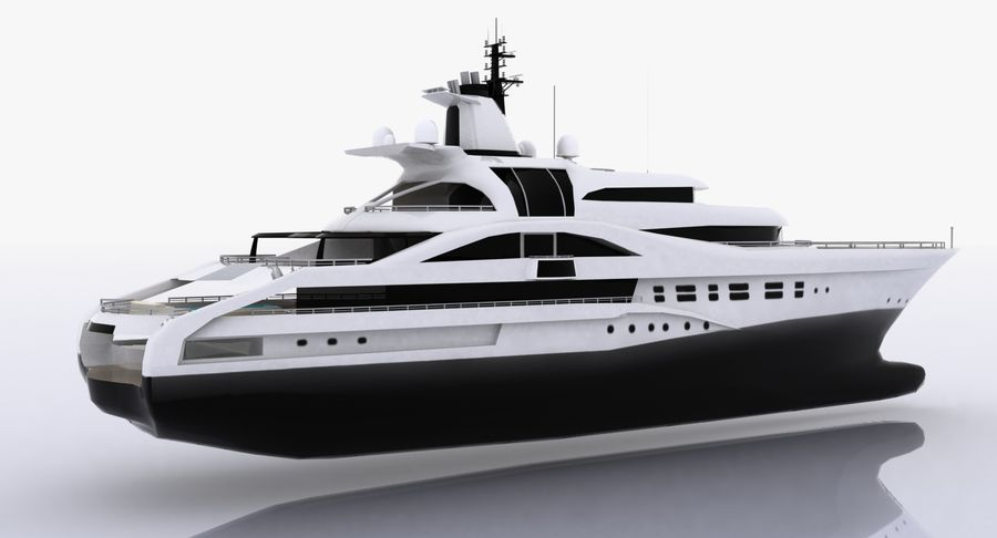 Palladium Yacht Low Poly royalty-free 3d model - Preview no. 6