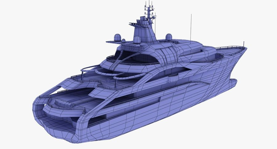 Palladium Yacht Low Poly royalty-free 3d model - Preview no. 18