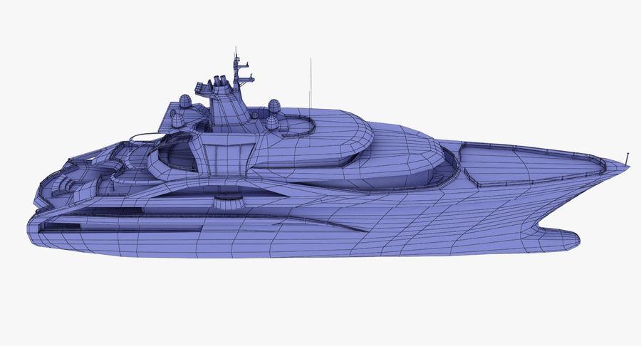 Palladium Yacht Low Poly royalty-free 3d model - Preview no. 19