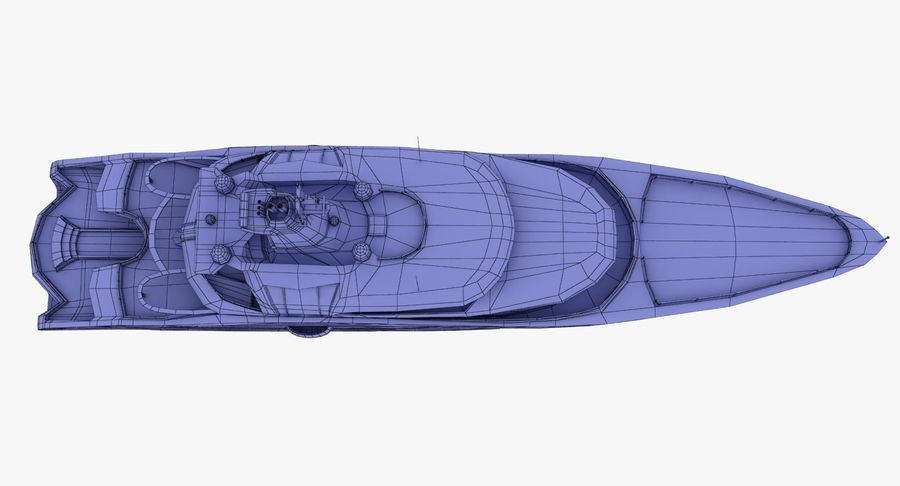 Palladium Yacht Low Poly royalty-free 3d model - Preview no. 20
