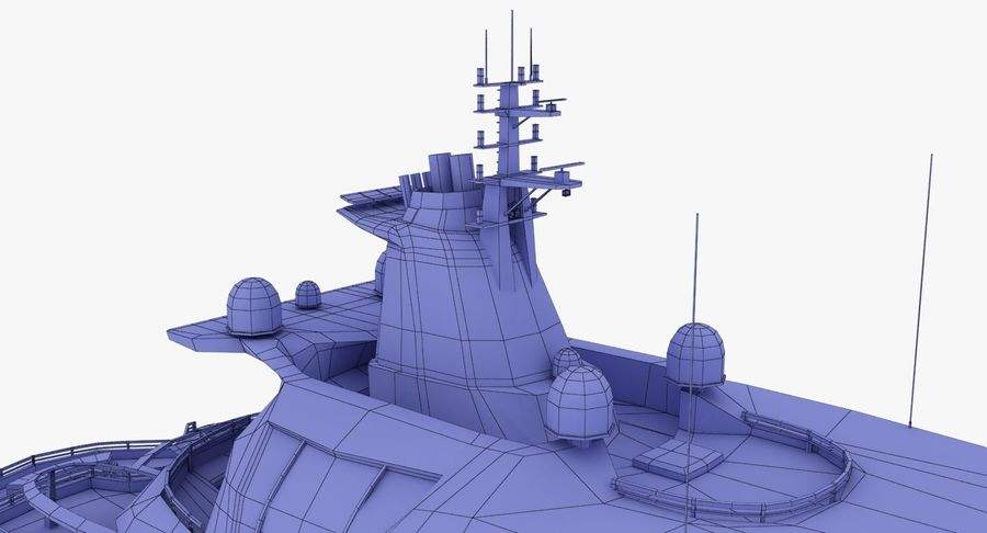 Palladium Yacht Low Poly royalty-free 3d model - Preview no. 21