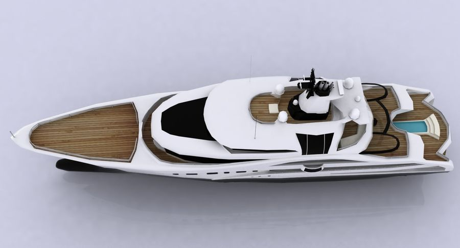 Palladium Yacht Low Poly royalty-free 3d model - Preview no. 12