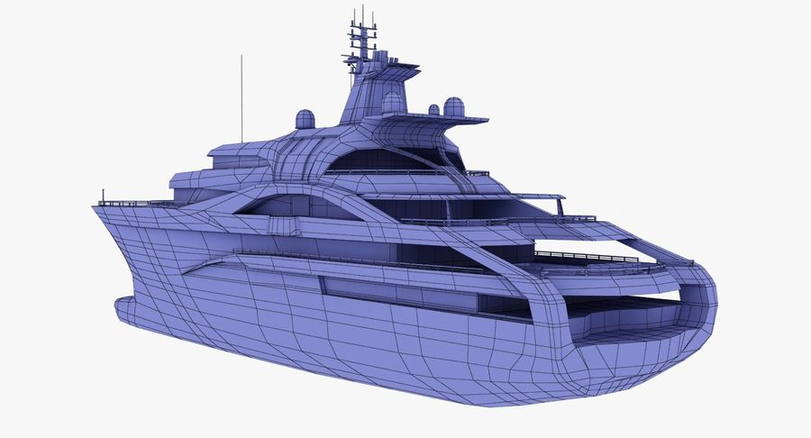 Palladium Yacht Low Poly royalty-free 3d model - Preview no. 17