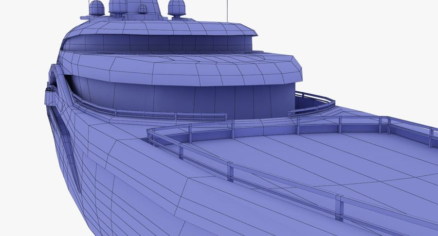 Palladium Yacht Low Poly royalty-free 3d model - Preview no. 23