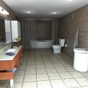 浴室シーン 3d model