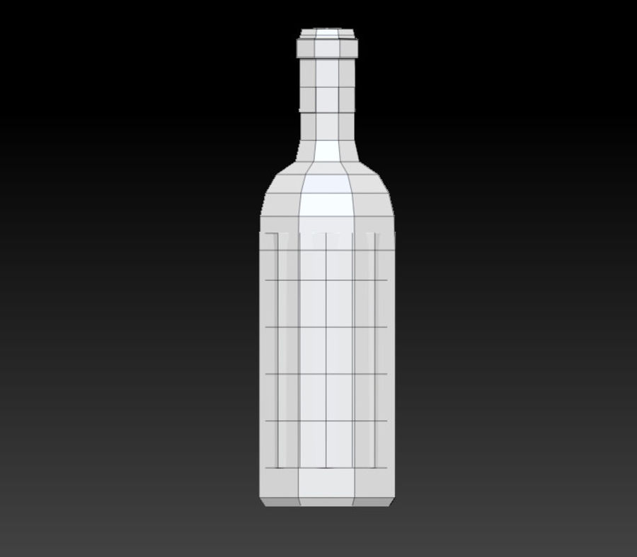 Wine bottle royalty-free 3d model - Preview no. 6