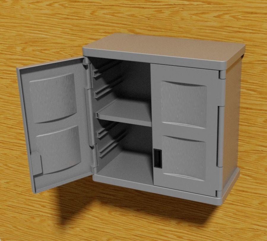 Wall Mounted Cabinets 3d Model 15, Plastic Wall Cabinets