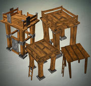 Tower Pack 3d model