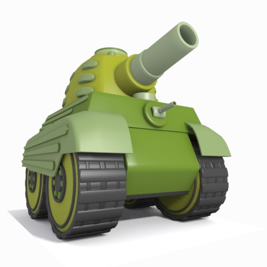 Toon Tank royalty-free 3d model - Preview no. 10