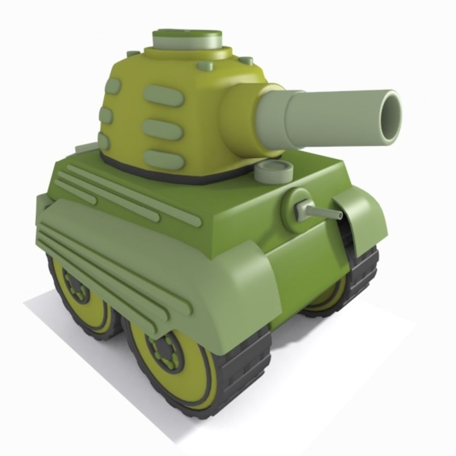 Toon Tank royalty-free 3d model - Preview no. 8