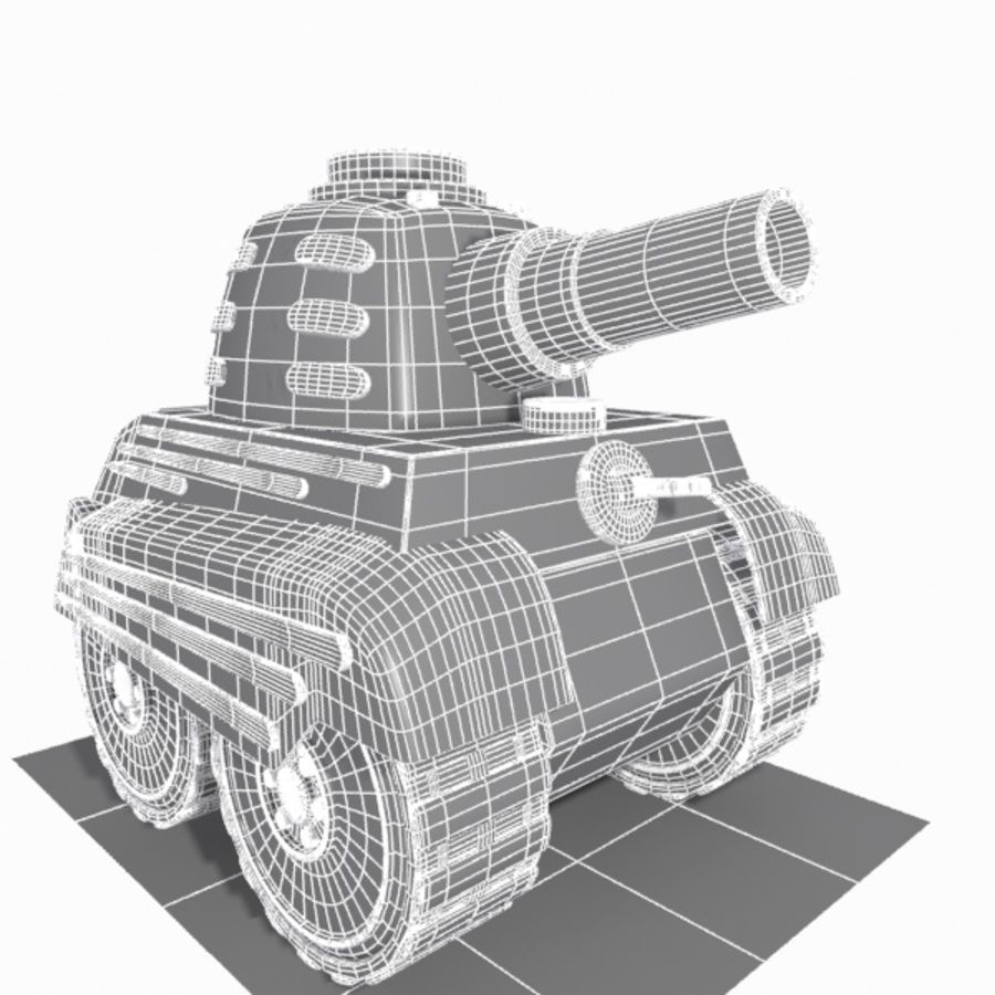 Toon Tank royalty-free 3d model - Preview no. 12