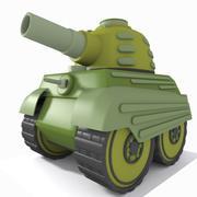 Toon Panzer 3d model