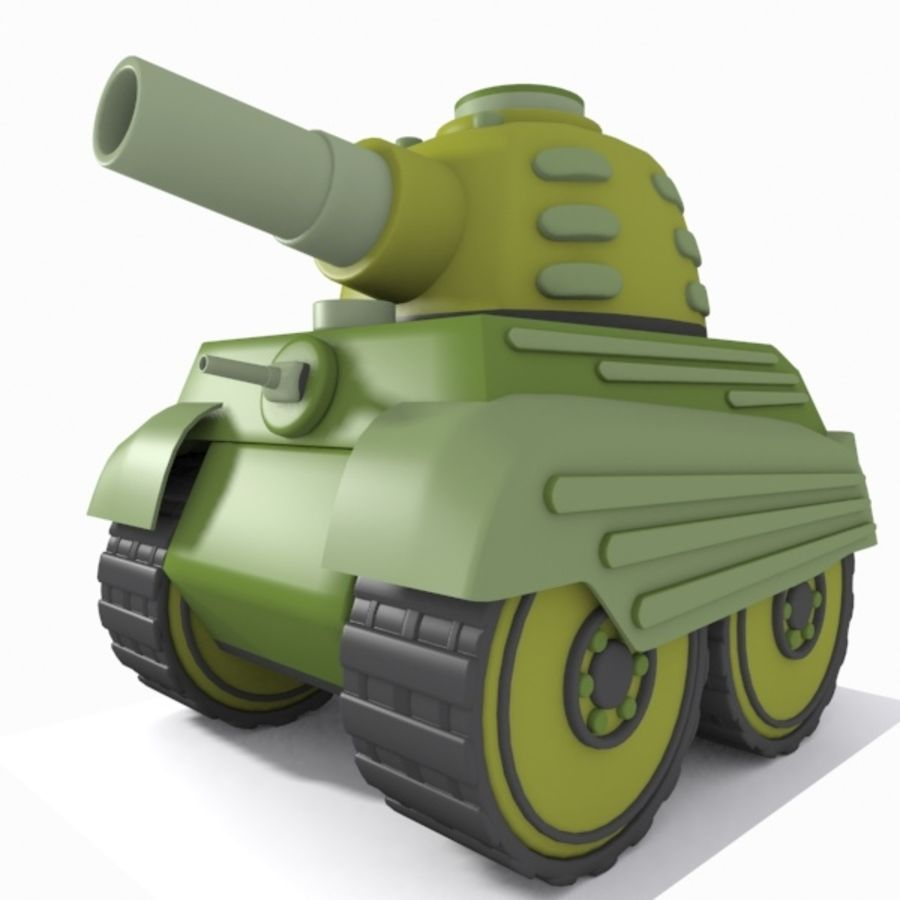 Toon Tank royalty-free 3d model - Preview no. 1