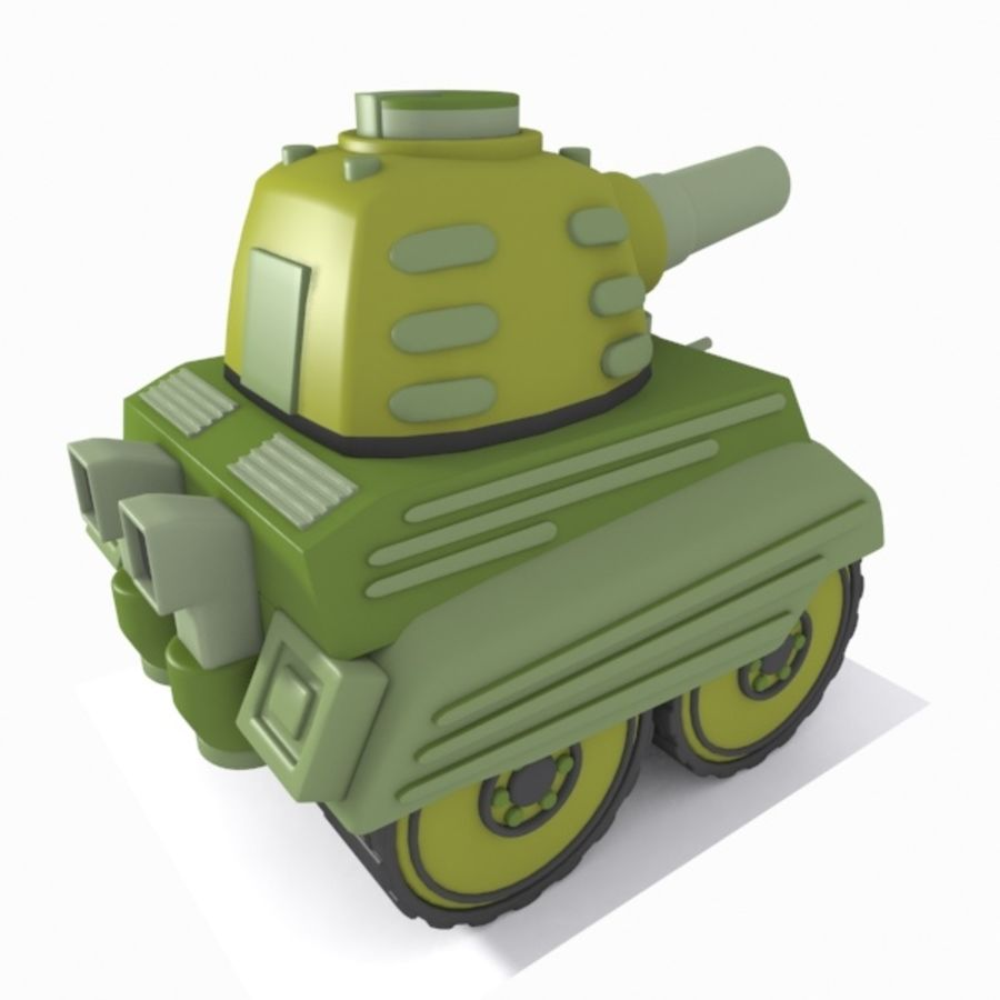 Toon Tank royalty-free 3d model - Preview no. 7