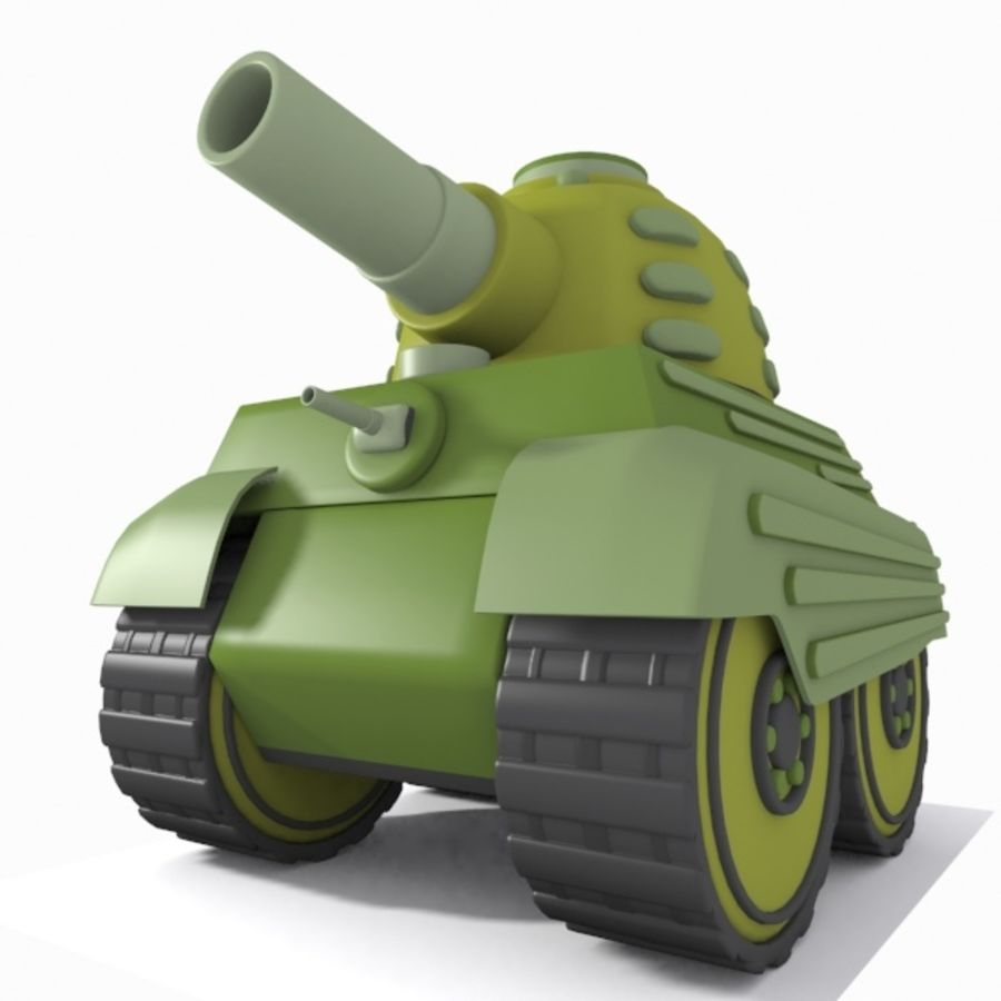 Toon Tank royalty-free 3d model - Preview no. 3