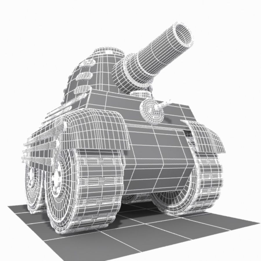Toon Tank royalty-free 3d model - Preview no. 11