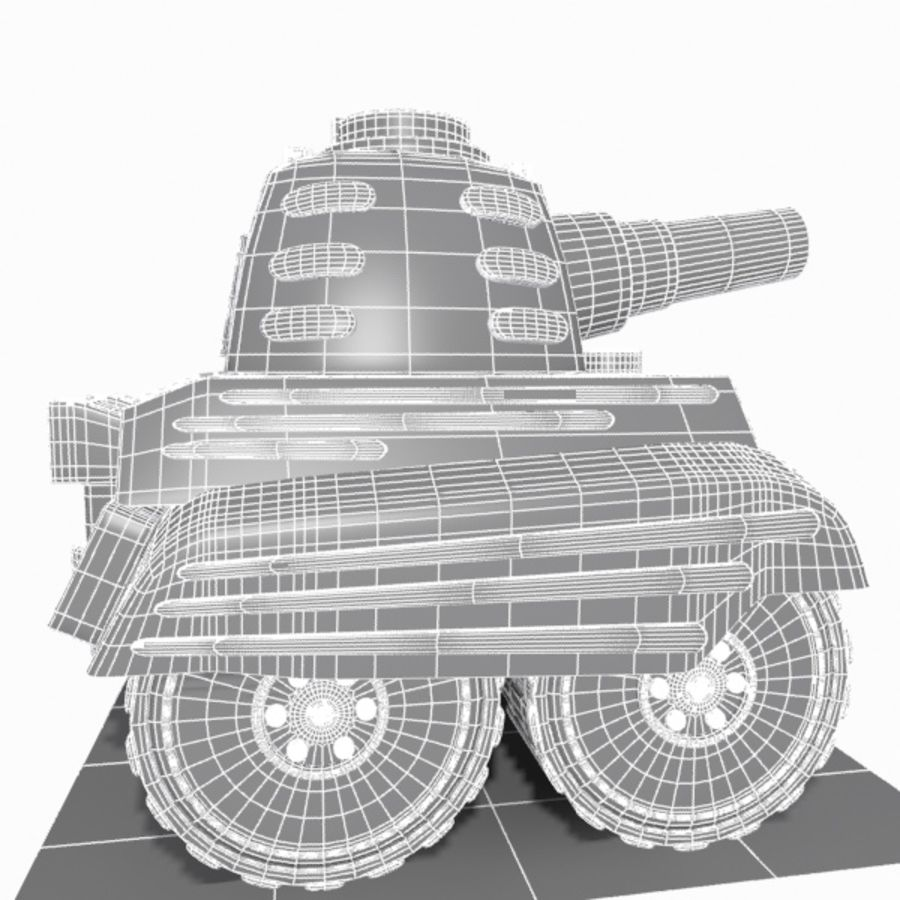 Toon Tank royalty-free 3d model - Preview no. 13