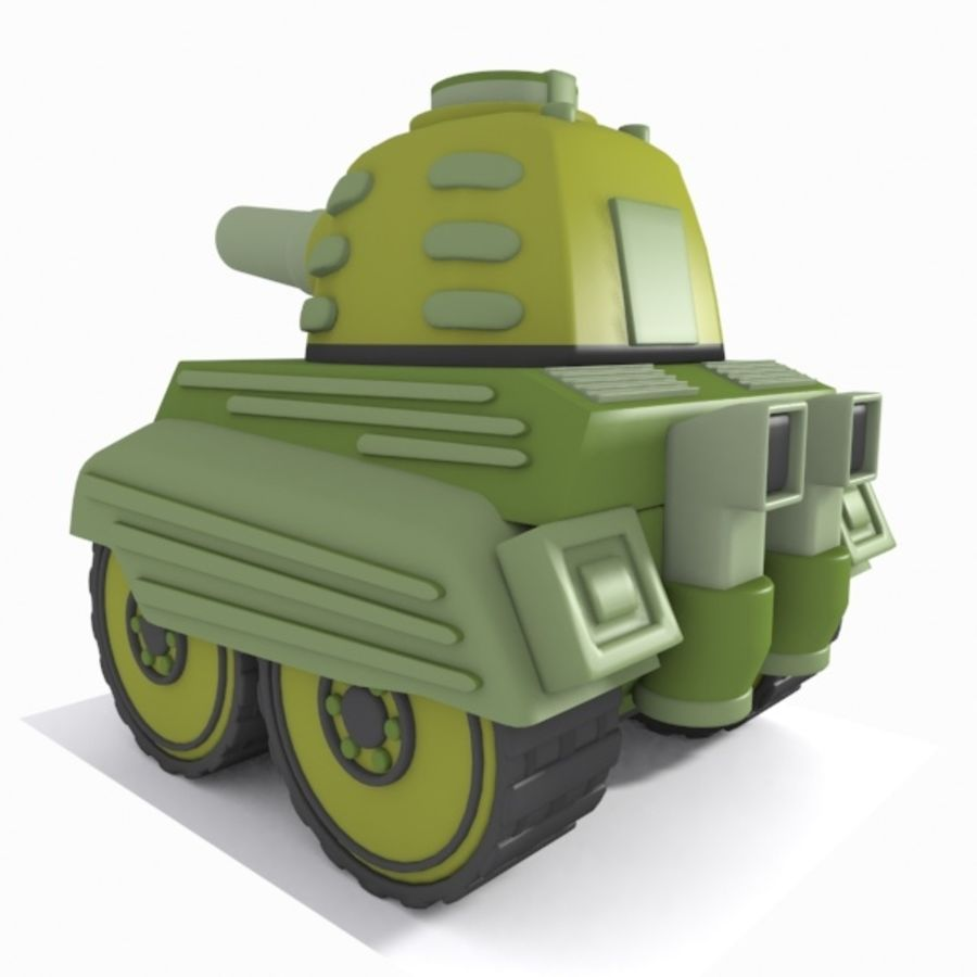 Toon Tank royalty-free 3d model - Preview no. 6
