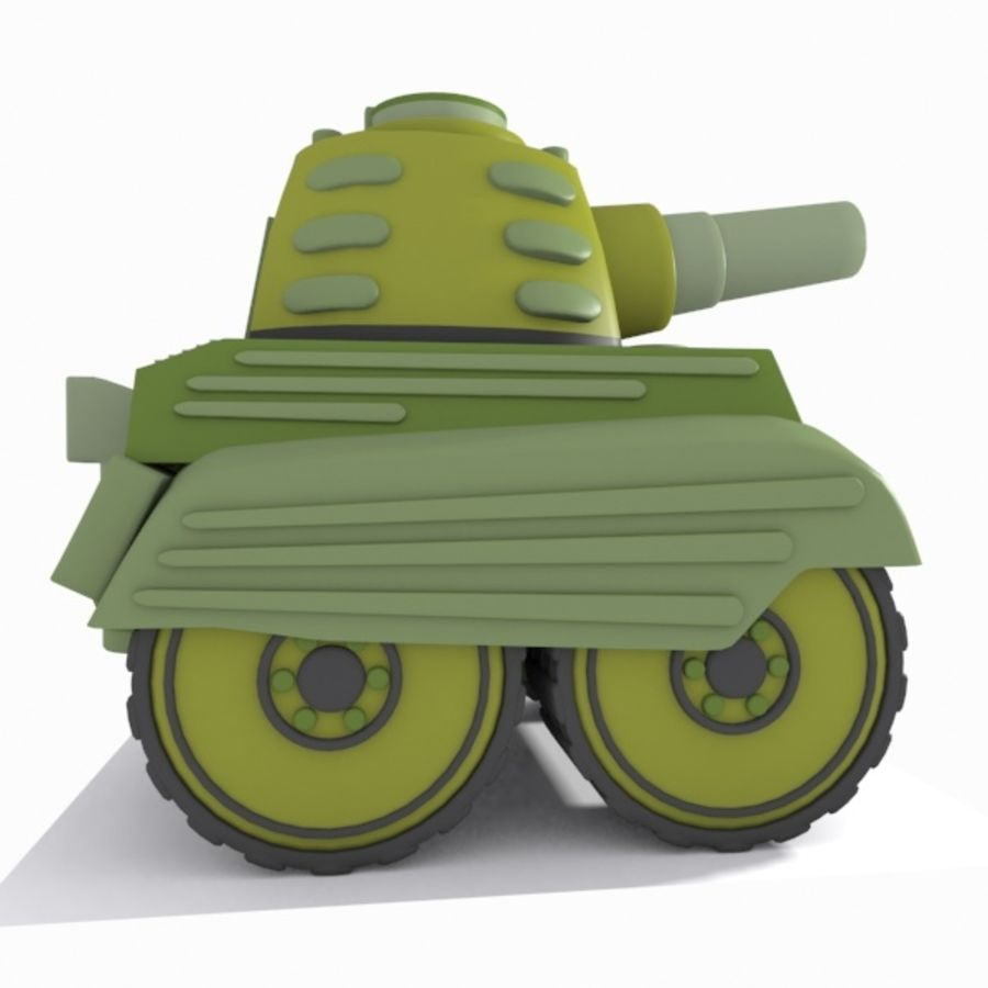 Toon Tank royalty-free 3d model - Preview no. 9