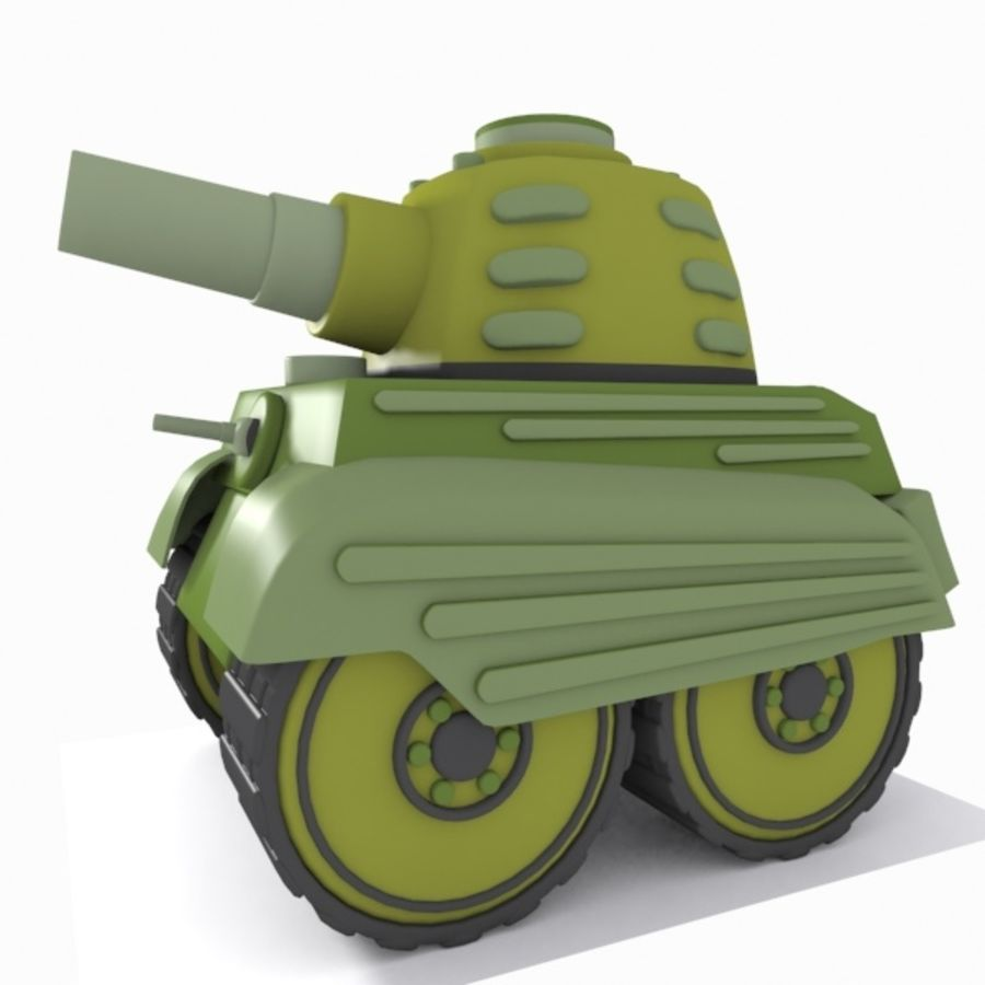 Toon Tank royalty-free 3d model - Preview no. 5